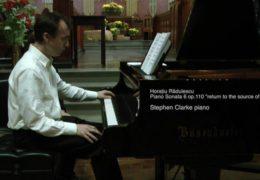 Rădulescu's Piano Sonata 6