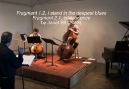 Fragment 1.2, I stand in the deepest blues & Fragment 2.1, iri/de/scence (2013) by Janet Sit