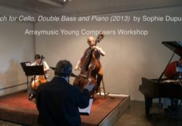 Sketch for Cello, Double Bass and Piano (2013) by Sophie Dupuis